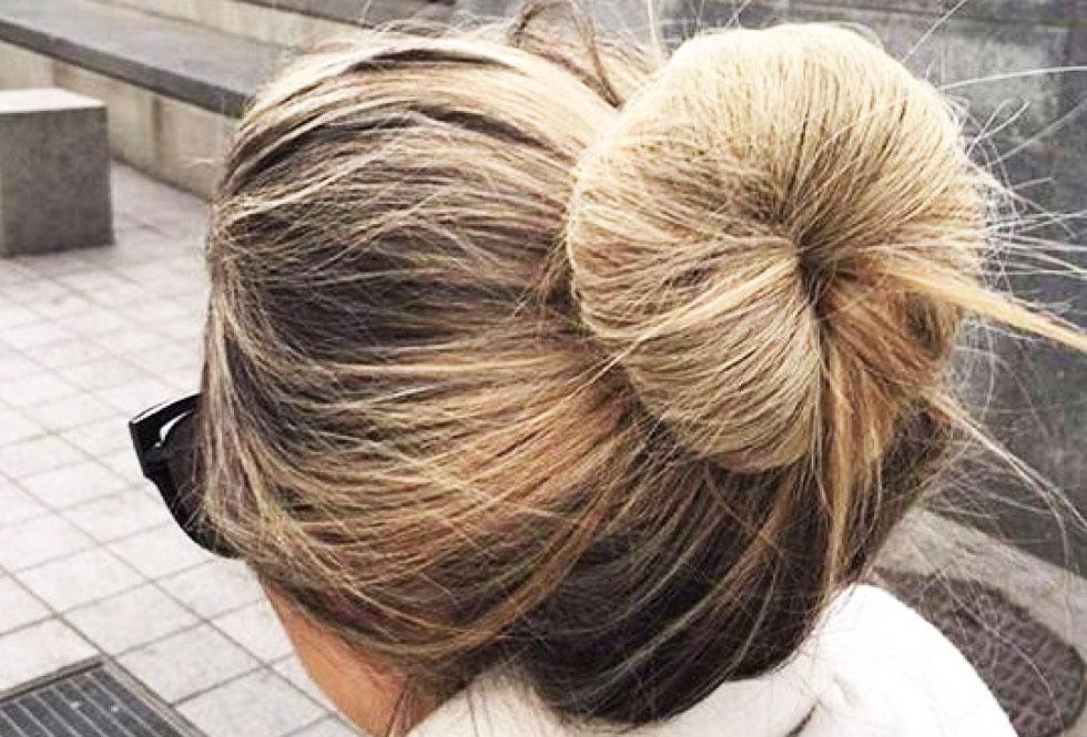 chignon pour cheveux longs
